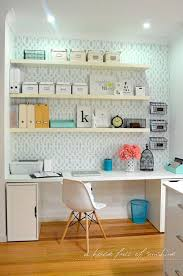 home office shelving ideas. IHeart Organizing: Reader Space: An Office Full Of Sunshine Ideas For Our Workroom - Like The Narrow Desk Space And Shelves Above. Home Shelving E