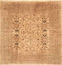 8 square area rugs brown hand knotted