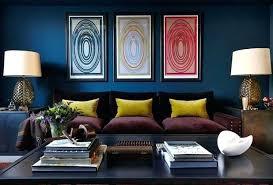 dark blue walls contemporary living room by interiors bathroom bedroom