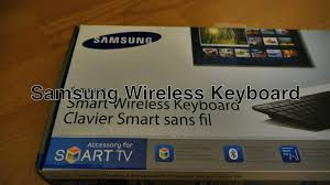 samsung tv keyboard. samsung wireless keyboard bluetooth smart tv remote control w/ qwerty \u0026 trackpad mouse for mac / pc - youtube tv