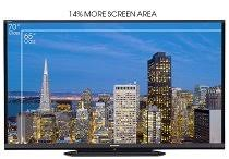 sharp 70 inch tv. 20 percent more viewing area sharp 70 inch tv