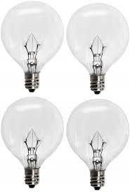 Globe Light Bulb Sizes 4 Pack 25wlite 25 Watt Replacement Light Bulb For Authentic