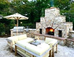 outdoor fireplace pizza oven combo featuring fireplaces plans how to build an