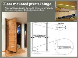 pivot hinge door. floor mounting pivot hinge door shapira builders