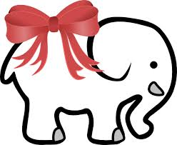 christmas elephant clip art. Brilliant Christmas Clipart Royalty Free With Red Bow Clip Art At Clker Christmas Elephant Clip Art E