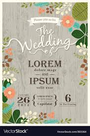 card invitation vintage wedding invitation card floral background vector image