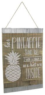 24 inch rustic wood pineapple wall