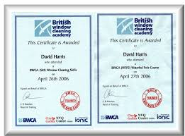 qualifications and insurance upper glass cleaning extraordinary we have received qualifications from the british window cleaning academy we also have membership of the associated clear choice scheme click here