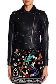 romeo juliet couturestar studded faux leather jacket