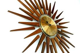 full size of starburst wall clock vintage sunburst for gold enthralling interior architecture remodel kids