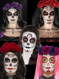details about day of the dead skeleton makeup sugar skull fancy dress accessory
