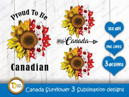 Sunflower svg, png, butterfly jpeg, sublimation design, sunflower and butterflies print design, instant download, printable design png. Canada Sunflower 3 Sublimation Designs Graphic By Dina Store4art Creative Fabrica Sublime Design Creative