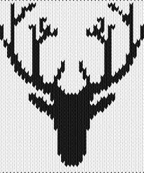 Knitting Motif And Knitting Chart Antler Designed By Veres
