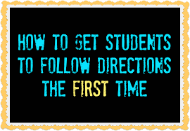 how to get students to follow directions the first time use a backwards countdown or timer to keep things moving
