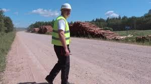 Walking Logs Stressful Lumberjack Walking Near Logs Of Pile Stock Video