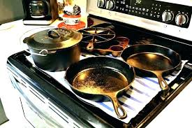 cast iron glass cooktop stove top skillets grill on designs hot skillet