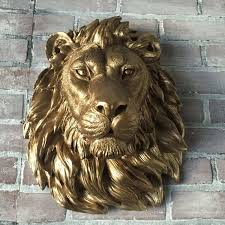 lion wall art unique any color or bronze african lion head wall mount