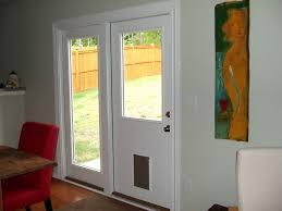 double patio door with dog door