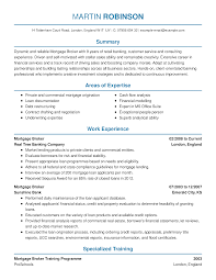 Up To Date Resume Samples Mortgage Broker Resume Example