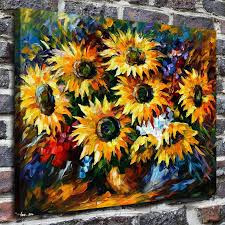 2019 modern hd print home decor sunflower oil painting watercolor paint wall art painting wall picture poster for room decor from print art canvas