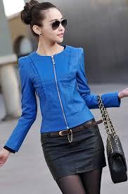 2016 spring women s leather clothing female short