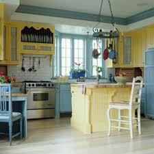 Retro Kitchen Cabinets Black Oak Finish Island Colorful Red Vintage