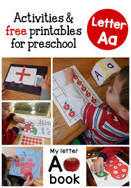 these 3 year old activities are great for learning the alphabet
