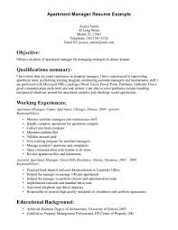 Apartment Property Manager Resume The Letter Sample