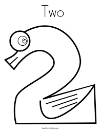 number 2 coloring sheets