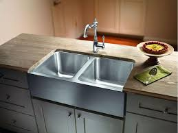 Kitchen  Awesome Stainless Steel Apron Sink Kitchen Sink Sizes Stainless Steel Farmhouse Kitchen Sinks