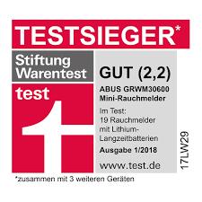 Abus Mini Rauchmelder Grwm30600 Geeignet Für Wohn Und Schlafzimmer 10 Jahres Melder Kompakte Bauweise Weiß 12311