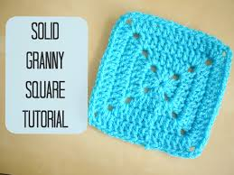 Basic Granny Square Pattern Custom CROCHET How To Crochet A Solid Granny Square For Beginners Bella