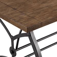 wood metal dining table. Rosebank Wood And Metal Dining Table Media Gallery 5 L