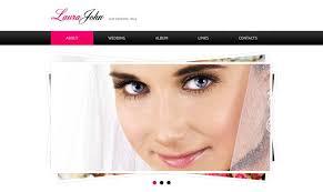 Free Wedding Website Templates Interesting Free Wedding Website Template With JQuery Slider MonsterPost