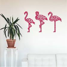geometric flamingo wall art tropical