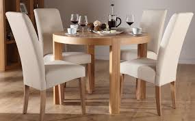 round oak dining table and 4 chairs 3830 impressive on cream dining tables and chairs