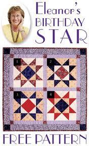 7 best Free Quilt Patterns images on Pinterest | Free pattern ... & Eleanor's Birthday Star Free Pattern! Adamdwight.com