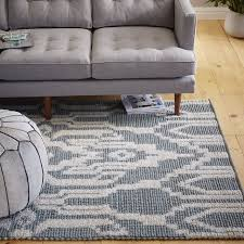 distressed arabesque wool rug midnight image gallery collection nobby west elm area rugs signet wool rug moonstone