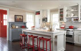 Red And White Kitchens Delorme Designs Red White And Blue Kitchen What Not Ta