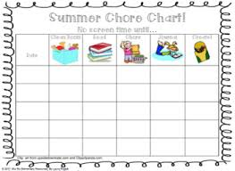 Chart Screen Summer Chore Chart No Screen Time Until