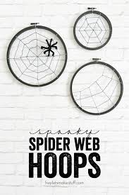 Spider Web Dream Catcher Extraordinary Spooky Spider Web Hoops A Night Owl Blog
