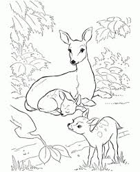 Small Picture Coloring Pages Animals Coloring Page Deer In A Triangle Deer
