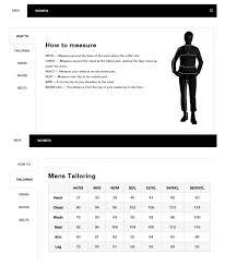 J Lindeberg Size Guide