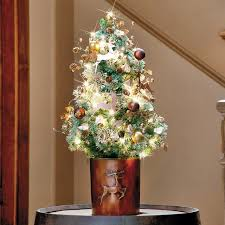 Table Top Decorated Christmas Trees - Table Designs