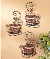 inspirational design coffee metal wall art home pictures creative based kitchen for your kutskokitchen themed cups