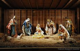 precious wooden manger plus outdoor nativity holy family to