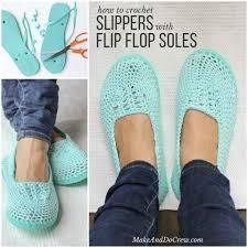 Flip Flop Bathroom Decor How To Make Crochet Slippers With Flip Flop Soles Home Design