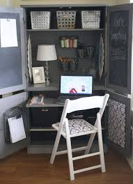 office space desk. plain armoire into office space computer desk diy