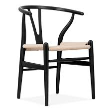 amazing hans wegner style black wishbone chair with natural seat cult uk pics of inspiration and
