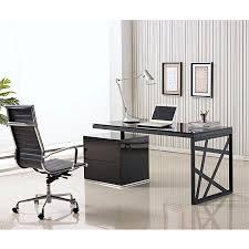 office desk black. Krauss Contemporary Black Desk With File Office